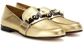 Fendi Embellished leather loafers