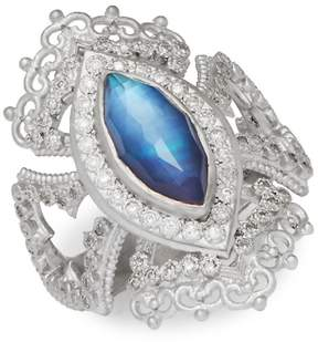 Armenta Women's New World Multi-Stone and Sterling Silver Ring, 0.35 TCW