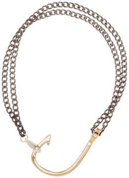 Miansai Gold Plated Sterling Silver Hook On Bracelet