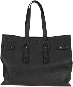 Orciani Buckled Logo Tote