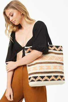 Forever 21 Striped Geo Tote Bag