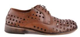 Daniele Alessandrini Men's Brown Leather Lace-up Shoes.
