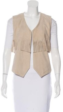 Pinko Fringe Suede Vest w/ Tags