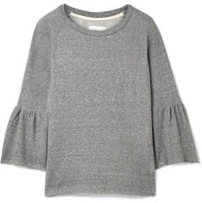 Current/Elliott The Ruffle Cotton-blend Terry Sweatshirt - Gray