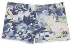Ralph Lauren Little Girl's& Girl's Floral Denim Shorts