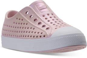 Skechers Little Girls' Guzman 2.0 - Aqua Shimmers Casual Sneakers from Finish Line