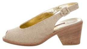 Walter Steiger Canvas Slingback Sandals