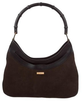 Gucci Vintage Bamboo Handle Bag - BROWN - STYLE