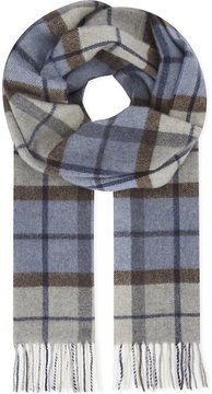 Eton Checked print wool scarf