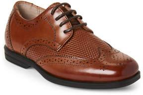 Florsheim Toddler/Kids Boys) Saddle Tan Reveal Wingtip Jr. Derby Shoes