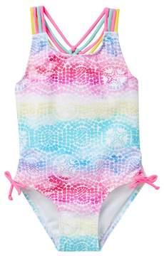 Flapdoodles Starfish Mosaic 1-Piece Swimsuit (Toddler Girls)