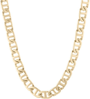 JCPenney FINE JEWELRY Mens Stainless Steel & Gold-Tone IP 22 10mm Marine Link Chain