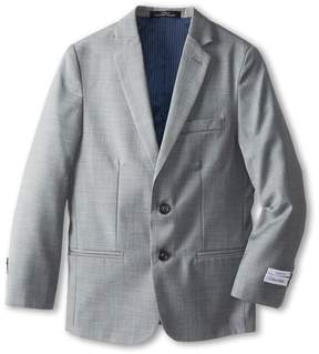 Calvin Klein Kids - Sharkskin w/ Blue Deco Jacket Boy's Jacket
