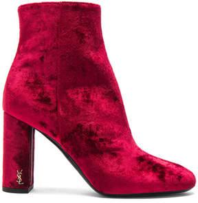 Saint Laurent Velvet Loulou Pin Boots