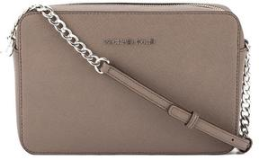 Michael Kors Grey Saffiano Leather Jet Set Travel Large Crossbody Bag - GRAY - STYLE