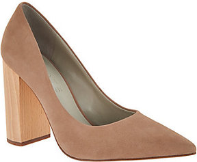 1 STATE Valencia Pointed Toe Block Heel Pumps
