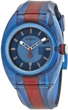Gucci Sync XL Blue Dial Men's Two Tone Watch