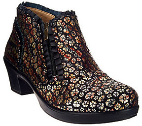 Alegria As Is Leather Booties with Side Zipper - Hannah