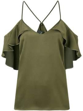 Pinko dropped shoulder frill trim blouse