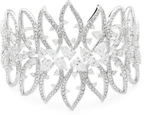 Adriana Orsini Women's Calla Crystal Large Open Cuff Bracelet