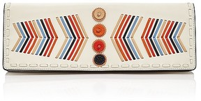 Tory Burch Canyon Leather Clutch - NEW IVORY/MULTI/GOLD - STYLE