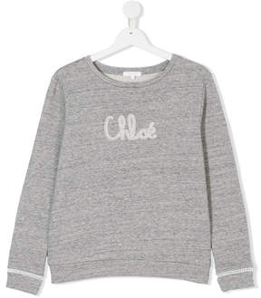 Chloé Kids logo print sweater