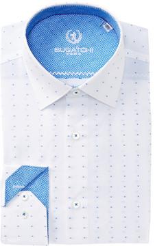 Bugatchi Dotted Shaped Fit Dress Shirt