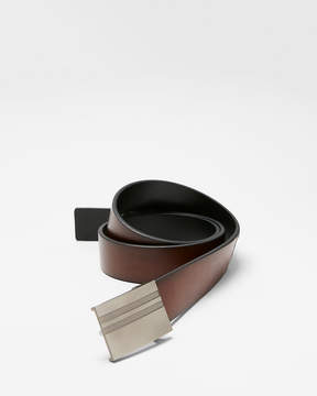 Express Striped Plaque Reversible Belt