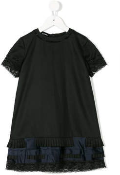 Diesel lace and pleat dress