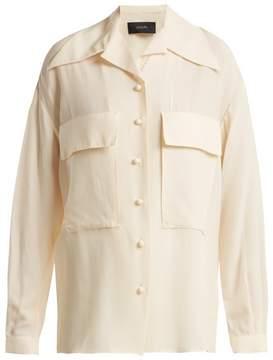 Joseph Cam patch-pocket silk and cotton-blend shirt