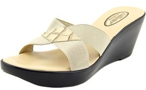 Callisto Aura Women Open Toe Canvas Nude Wedge Sandal.