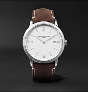 Baume & Mercier My Classima 40mm Stainless Steel And Leather Watch