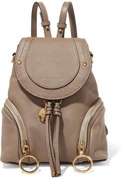 See by Chloe Olga Small Textured-leather Backpack - Mushroom