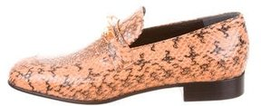 Joseph Snakeskin Embellished Loafers w/ Tags