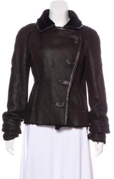 Celine Asymmetrical Leather Jacket