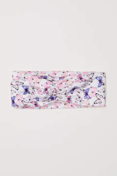H&M Patterned hairband - White