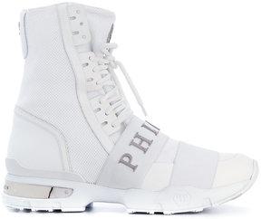 Philipp Plein Skull Purple hi-top sneakers