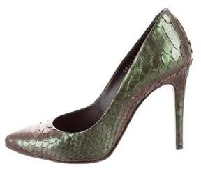 Gina Python Pointed-Toe Pumps