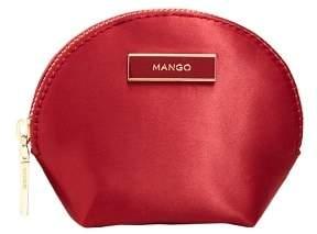 MANGO Satined effect purse