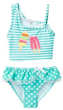 Flapdoodles Popsicle 2-Piece Swimsuit Set (Toddler Girls)