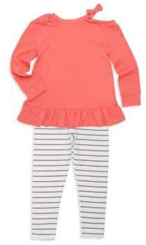 Splendid Toddler's& Little Girl's Two-Piece Cold-Shoulder Top and Pants Set