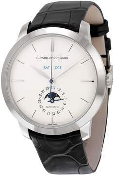 Girard Perregaux 1966 Automatic Silver Dial 18kt White Gold Men's Watch