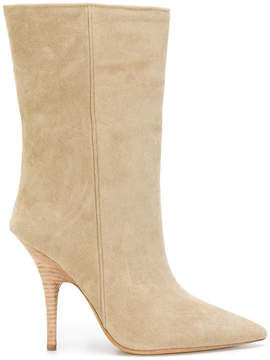 Yeezy mid-calf stiletto boots