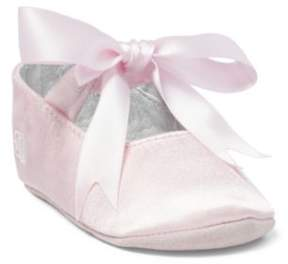 Ralph Lauren Briley Satin Slipper Pink Satin 0 (0-6 Wks)