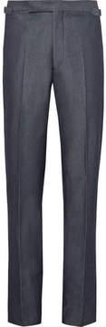 Richard James Blue Slim-Fit Denim Suit Trousers