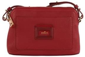 Hogan Women's Red Leather Shoulder Bag.