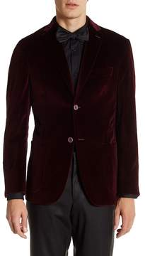 Zanetti Garnet Velvet Two Button Notch Lapel Sport Coat
