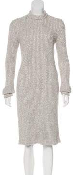 Celine Rib Knit Sweater Dress