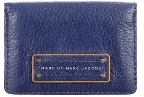 Marc by Marc Jacobs Marc Jacobs Leather Logo Cardholder - BLUE - STYLE