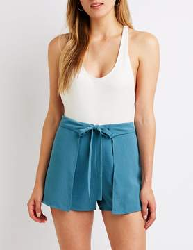 Charlotte Russe Tie Front Shorts
